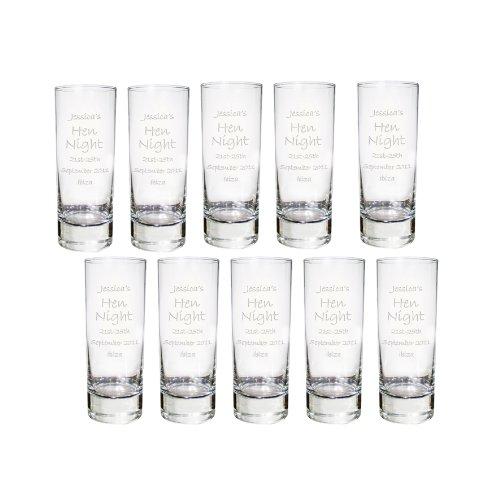 10 vasos de chupito grabados personalizables