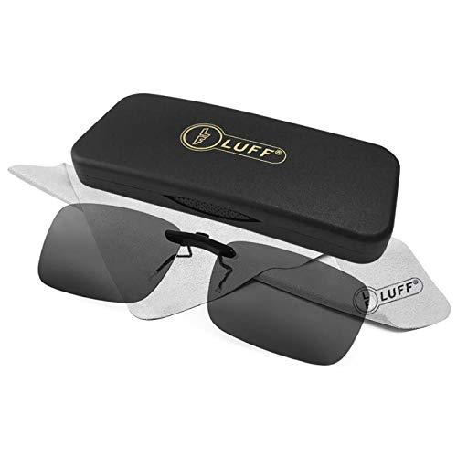 917dc3e8d6 LUFF Polarizado Clip Unisex en Gafas de Sol para Anteojos Recetados-Buen  Estilo de Clip