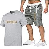 ZGRW Conjunto de chándal para hombre Jordan camiseta y pantalones cortos, media...