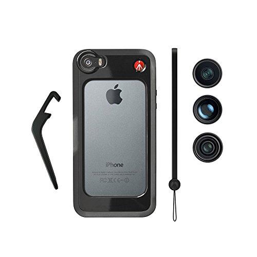 Manfrotto Bumper for iPhone 5/5s + 3 Lenses (Fisheye, Portrait 1.5x, Wide Angle) (Black)