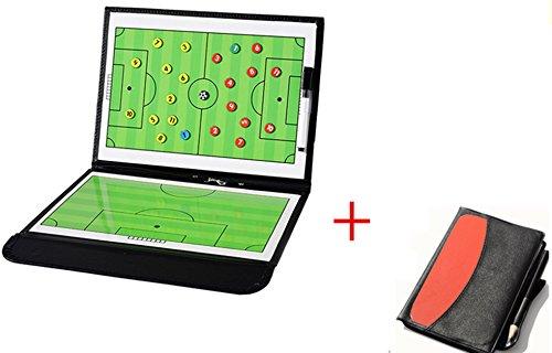 wenhaoyu plegable magnético de entrenador de fútbol de fútbol tácticas estrategia Junta con un write-wipe borrable bolígrafo 2en 1