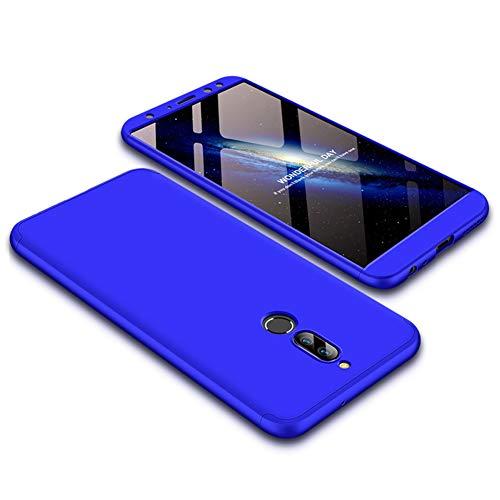 Funda Huawei Mate 10 lite,Carcasa Huawei Mate 10 lite,Funda 360 Grados Integral Para Ambas Caras+Cristal Templado,[ 360°]3 in 1 Slim Fit Dactilares Protectora Skin Caso Carcasa cover Azul
