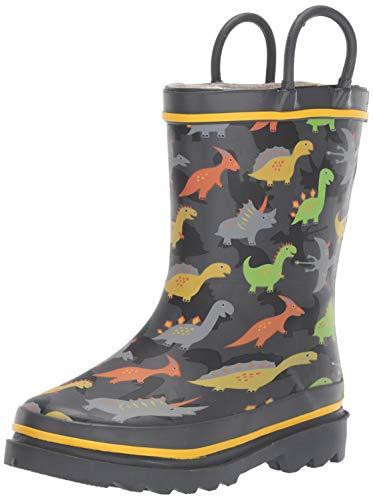 Western Chief Boy's Waterproof Printed Rain Boot, Dino Dash, 13-1 M US Toddler