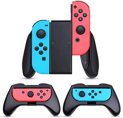[3 Pezzi] Grip per Nintendo Switch Joy-con Manico Grip Kit Custodia Protettiva per Controller Switch Joy-con, Impugnatura Switch Joy-con