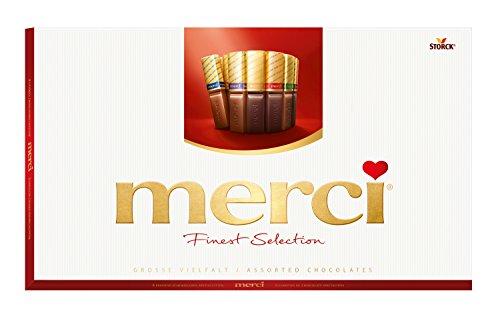Celebration Chocolate   Merci   Selezione più raffinata 8 Diverse specialità al cioccolato   Peso totale 400 grammi