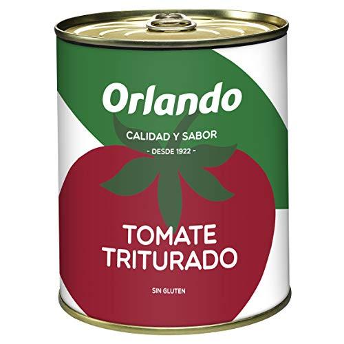 Orlando - Tomate Natural Triturado - 800 g - , Pack de 6
