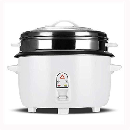Fornello di riso Fornello di riso con acciaio inox Steamer Basket Grande capacità Piroscafo Pentola per mensa Ristorante Hotel Fast food (Dimensioni: 10L)