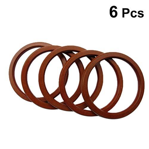 SUPVOX Reemplazo de 6 piezas de asas redondas de madera para bolsos bolsos monedero 10cm