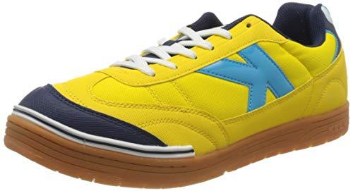 Kelme Trueno, Zapatillas de fútbol Sala para Hombre, Amarillo (Amarillo Y Turquesa 184), 45 EU
