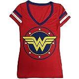 DC Comics Wonder Junior's Logo V-Neck Junior's T-Shirt (X-Larg