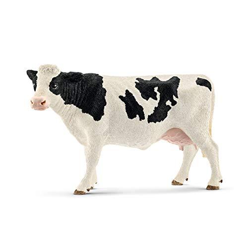 Schleich- Figurine Vache Holstein Farm World, 13797, Multicolore