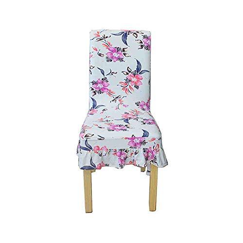 BJDKF Stoelhoes, nieuwe stoelbedekking, strecth bedrukt patroon, ruches lang rok beschermhoes, spandex, stoelbeschermers voor thuisfeesten A