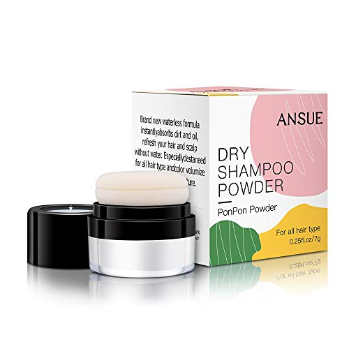 ANSUE Dry Shampoo Powder For Women Blonde & Dark Hair Travel Size