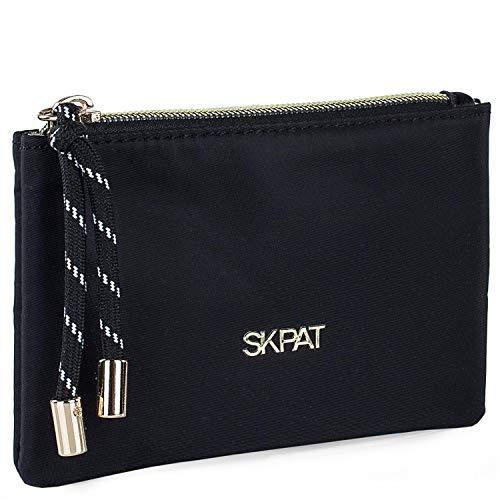 SKPAT - Monedero de Mujer Tipo Classic Elegante Minimal Tarjetero pequeño cursor Personalizado Tres Colores Funcional Uso Diario 307607, Color Negro