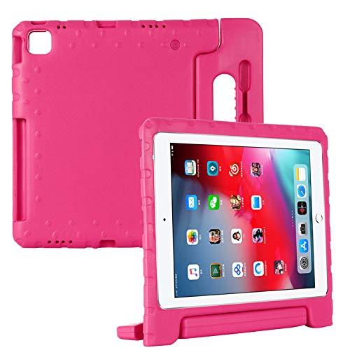 """Coopts per iPad Pro 12.9 2021 - Custodia robusta per iPad Pro 12.9 """"4th Gen Cover 2021, con maniglia convertibile per bambini, supporto per matita con supporto per iPad Pro 12.9 2021, rosa"""