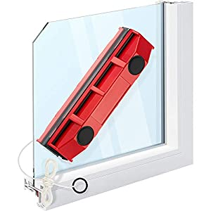 """Tyroler Bright Tools The Glider S-1 Magnetic Window Cleaner for Single Glazed Windows Fits 0.1""""-0.3"""" Window Thickness. Glass Cleaner"""