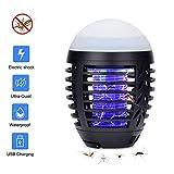 Hisome Moskito Lampe, Moskito Killer Licht Bug Zapper UV Insektenfalle, USB Elektrisch Mückenfalle, 2-in-1 Elektrischer Insektenvernichter Insektenlampe Camping Akku Zelt Laterne für Innen...