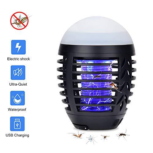 Lámpara LED y antimosquitos Hisome – uso exterior e interior, a prueba de agua y con batería 2200 mAh - carga USB