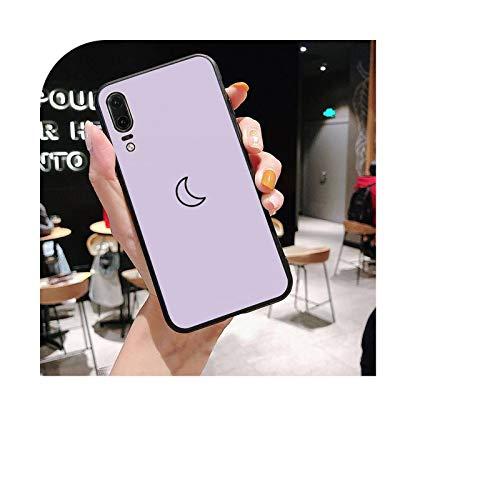 Fondo púrpura patrón de la funda del teléfono para Huawei P20 lite P40 lite mate 10 20 lite P20 pro P smart 2019 Y7 P30 lite caso-a2-Para P8 lite 2017