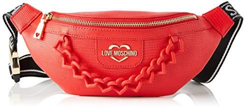 Love Moschino - Riñonera para mujer, colección Primavera Verano 2021, talla única Rojo Size: Talla única