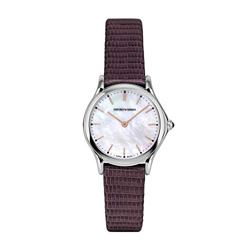 Emporio Armani - Reloj de Cuarzo de Cuero para Mujer ARS7015