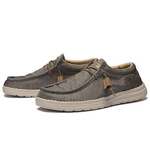 ANDREA CAMERINI Men's Slip on Loafers Casual Walking Shoes Comfort Driving Sneakers(Taupe)