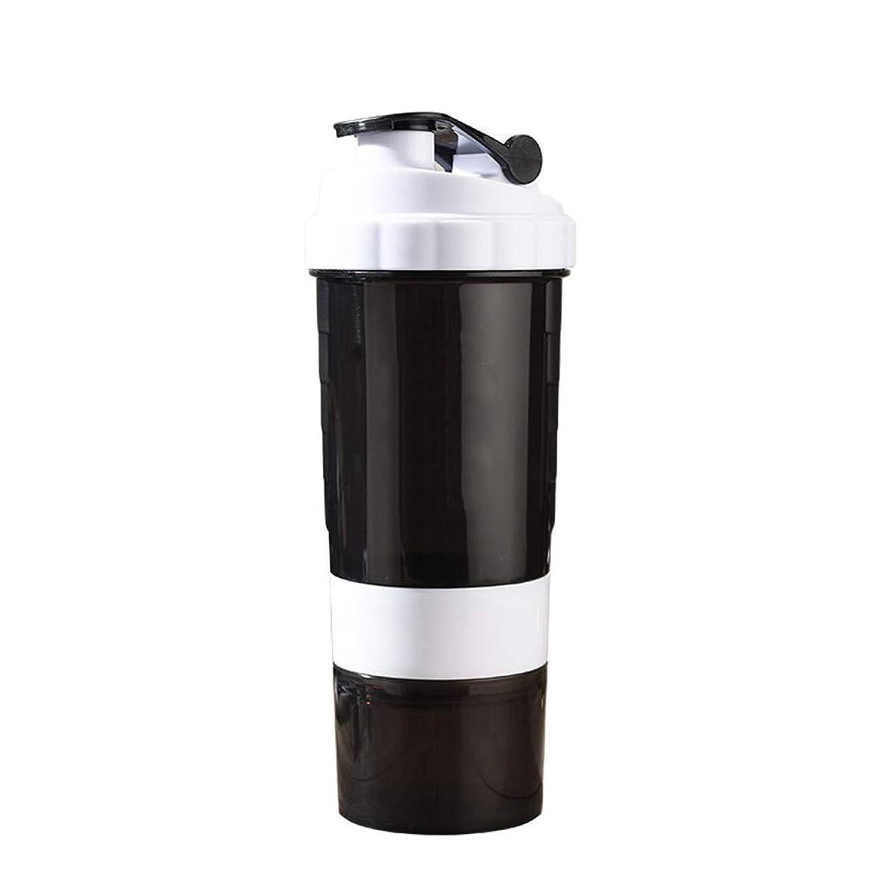 ホイールすぐに不条理ミルクセーキ シェイクカップフ[ 最新デザイン ] 多層タンパク質粉末 シェイクカップフ ィット ネススポ ーツウォーターボトル 旋風やかんミルク スケールティーカップ