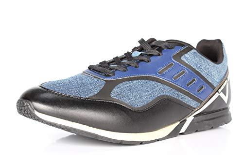 Diesel Men's V-Diction S-Gloryy Fashion Sneaker (12.5, Indigo/Black)
