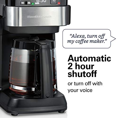 Product Image 8: Hamilton Beach Works with Alexa Smart Coffee Maker, Programmable, 12 Cup Capacity, Black and Stainless Steel (49350) – A Certified for Humans Device