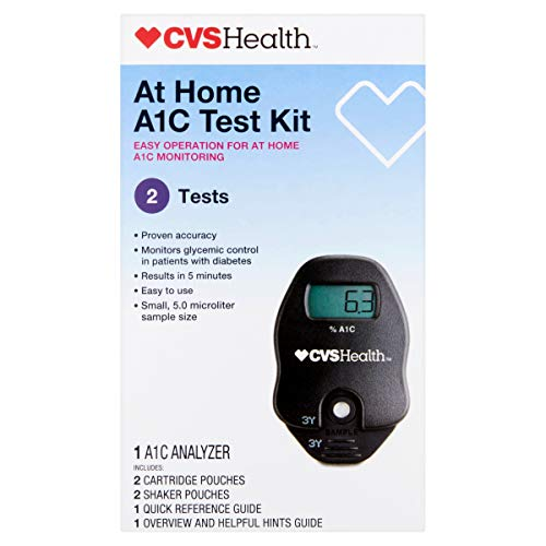 CVS A1C At Home Test Kit, Home Use Monitoring of Glycemic Control, Easy Operation for at home A1C...