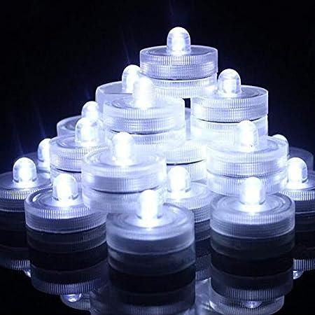 Submersible LED Lights,Waterproof Tea Lights,White Submersible Pool Lights,Underwater Submersible Tea Lights Battery Sub LED Lights Pond & Fishing Celebration Flameless LED Tea Light(Pack of 12)