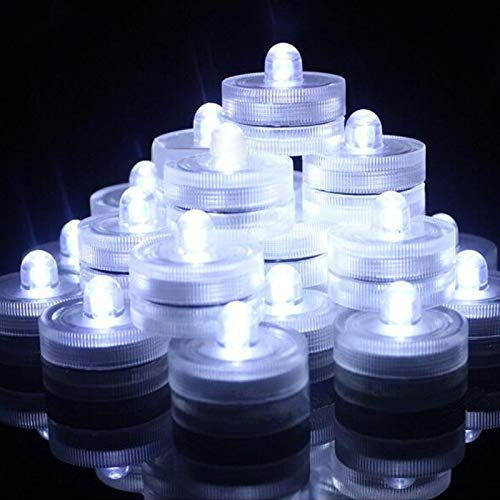 Submersible LED Lights,Waterproof Tea Lights,White Submersible Pool Lights,Underwater Submersible...