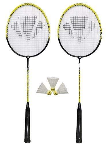 Carlton 2 x NanoBlade Badminton Schläger + 3 Shuttles