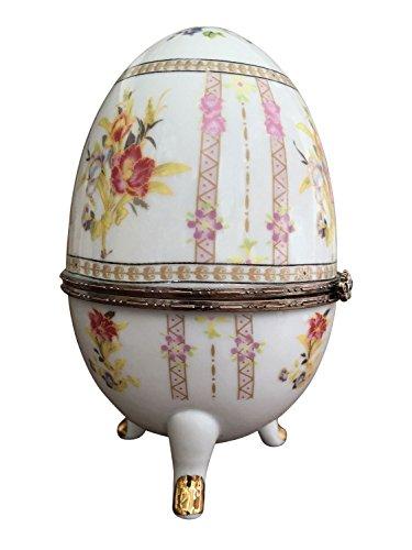 XL scatola di porcellana uovo stile antico scrigno Pasqua uovo
