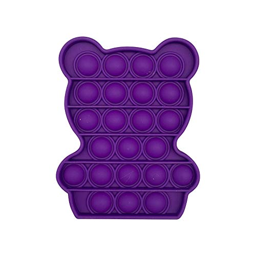Push pop Bubble Sensory Square Stress Reliever Autism Fidget Toy Stress Reliever Autism Anti-Anxiety Toy for The Old and The Young (02#Purple)