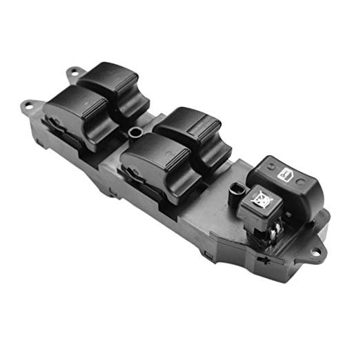 KUANGQIANWEI Botonera elevalunas Poder Ventana Principal de Control del regulador botón de Interruptor del Panel for los Toyota Corolla Verso 84820-0F030 848200F030 (Color : Black)