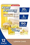 Pure Protein Bars, High Protein, Nutritious Snacks to Support Energy, Low Sugar, Gluten Free, Lemon...