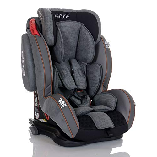 Silla Coche Grupo 1 2 3 Isofix GT 9-36 kg - SPS - Reclinable - Giratoria; gris