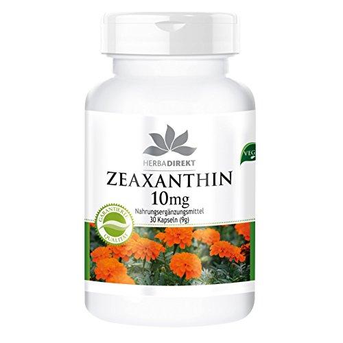 Zeaxantina 10mg - Ottenuto da 50mg d'estratto dai fiori di calendula - 30 capsule - Vegan