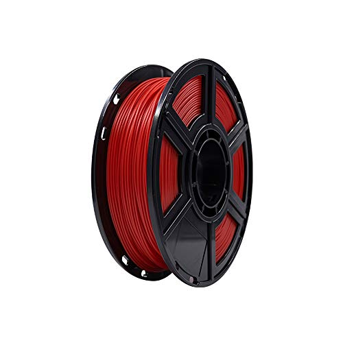 Flashforge PLA 1.75mm 3D Printer Filaments 0.5kg Spool-Dimensional Accuracy +/- 0.05mm for Finder and Creator Pro (Red)