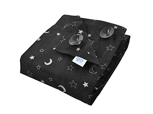 The Gro Company Stars and Moons Gro Anywhere Portable Blackout Blind with...
