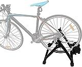 Rodillo de entrenamiento de bicicleta para entrenador de interior, negro, imán de entrenador de bicicleta estática, soporte de entrenador de interior magnético, resistencia magnética, rodillo de bici