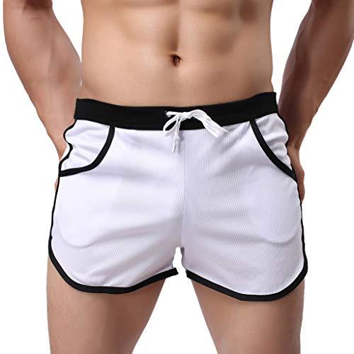 YueLove Der Sommer der Männer Herren Medium Drawstring Badehose Neu Style Mode Einfache Sport Fitness Shorts Hauptstrandhose