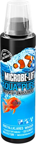 MICROBE-LIFT Aqua Pure – Flüssiges Filtermedium mit lebenden Bakterien für Ihr Meerwasser und Süßwasser Aquarium, Wasseraufbereitung, 236 ml