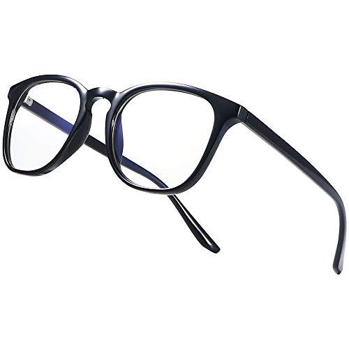 Blaulichtfilter Brille Computerbrille PC Gaming Brille Bluelight Filter UV Blue Light Blocking Glasses Anti Damen Herren ohne stärke Entspiegelt Blaufilter Brille(Schwarz)