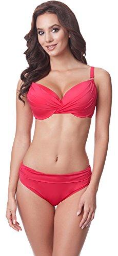 Merry Style Damen Bikini Set P62175M(Himbeere, Cup 75 D/Unterteil 38)