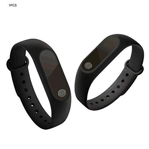 Gugutogo Analog M2 Smart Armband Synchron-Bewegungsmelder Schritt-Schlaf-Überwachung Anruferinnerung Touch & Button Typ Handschlaufe Armband