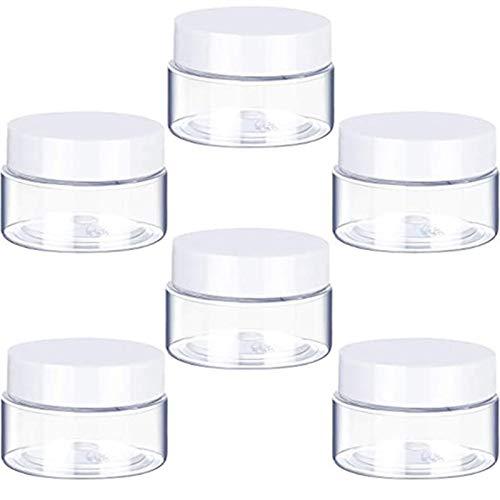 Botella de envase cosmético 30 ml / 40 ml / 50 ml / 60 ml / 80 ml de frasco de plástico transparente y tapas vacías recipientes cosméticos caja de caja para el almacenamiento de viaje maquillaje