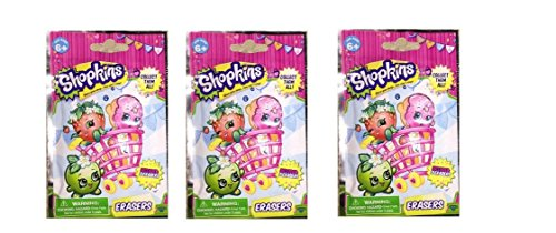 Shopkins 2pk Eraser Blind Bag X 3 Bags