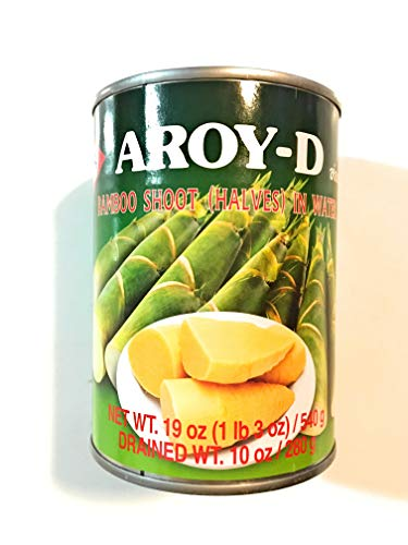 Aroy-D Bamboo Shoot (Halves) In Water 19 Oz(4 Pack)